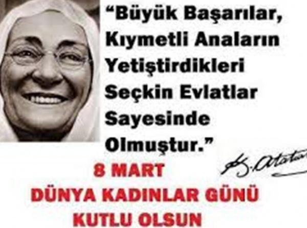 8 Mart Dünya Kadinlar Günü Cumhuriyet Ilkokulu